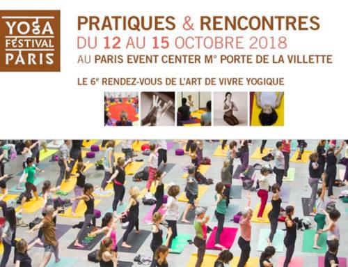 Nouveau Yoga Festival Paris du 12 au 15 octobre 2018